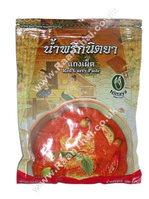 Red Curry Paste 500g - NITTAYA