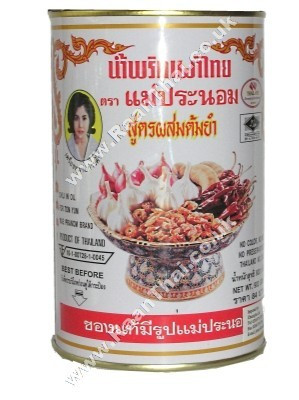 Chilli in Oil for Tom Yum 900g (white tin) - MAE PRANOM