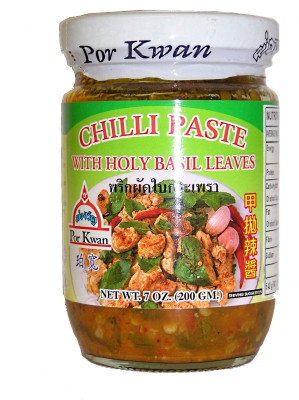 Chilli Paste with Sweet Basil Leaves - POR KWAN