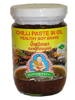 Chilli Paste in Oil (jar) - HEALTHY BOY !!!!***SPECIAL OFFER (bb: 29/07/17)***!!!!