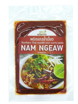 Northern Thai Noodle Sour Curry Paste (!!!!!!!!Nam Ngeaw!!!!!!!!) 50g - GRAB THAI