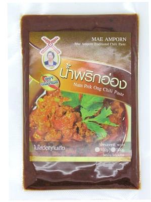 Nam Prik Ong Chilli Paste 100g - MAE AMPORN