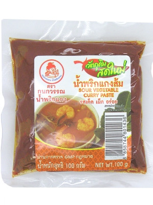 Sour Vegetable Curry Paste 100g - KANOKWAN