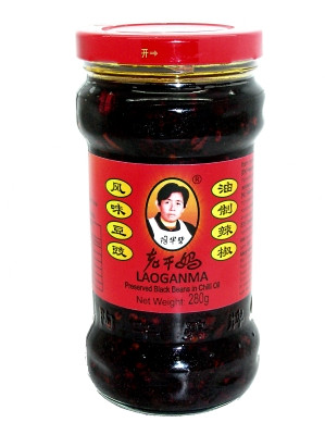 Preserved Black Beans in Chilli Oil - LAOGANMA