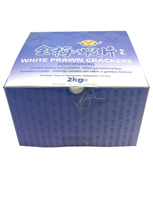 White Prawn Crackers (uncooked) 2kg - GOLD PLUM
