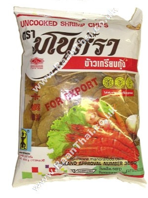 Uncooked Shrimp Chips 500g - MANORA
