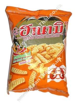 Prawn Crackers - Hot Chilli Flavour - HANAMI