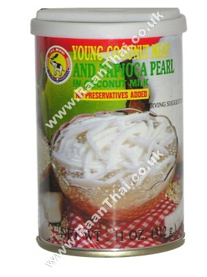 Young Coconut Meat & Tapioca Pearl in Coconut Milk - TAS