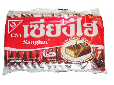 Cream Wafers - Chocolate Flavour - SANGHAI