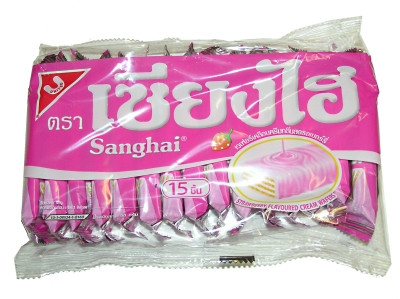 Cream Wafers - Strawberry Flavour - SANGHAI