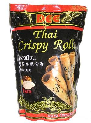 Thai Crispy Rolls (Thong Muan) - Taro Flavour - DEE