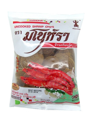 Uncooked Shrimp Chips 200g - MANORA