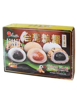 Assorted (Red Bean, Peanut, Sesame) Mochi 180g - AWON