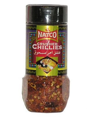 Crushed Chilli Flakes 80g (Jar) - NATCO