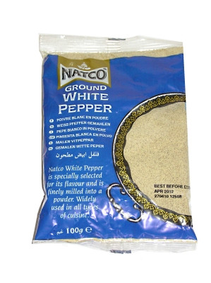 Ground White Pepper 100g (refill) - NATCO