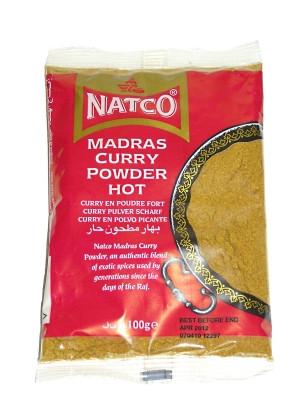 Hot Madras Curry Powder 100g (refill) - NATCO