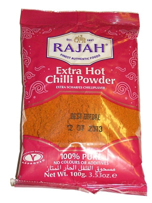 Extra Hot Chilli Powder 100g - RAJAH