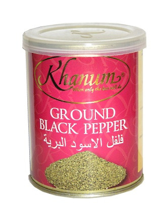 Ground Black Pepper 100g (tin) - KHANUM