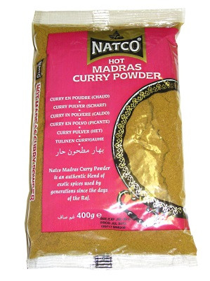 Hot Madras Curry Powder 400g - NATCO
