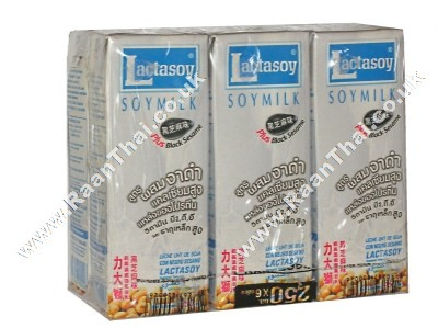 Sweetened Soy Milk with Black Sesame - LACTASOY