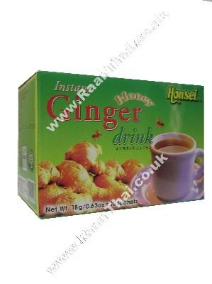 Instant Honey Ginger Tea 10x18g - HONSEI