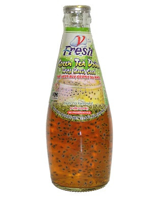 Green Tea Drink with Basil Seed - V-FRESH