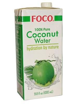 100% Pure Coconut Water 1ltr - FOCO