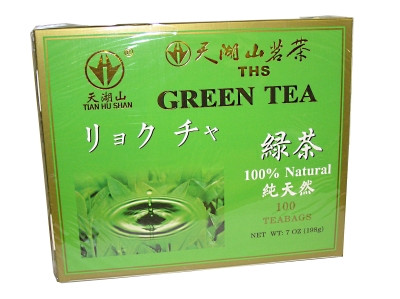 100% Natural Green Tea (bags) 100x2g - TIAN HU SHAN