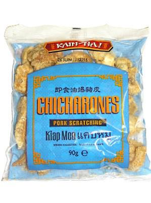 Seasoned Crispy Pork Rind (Chicharones) 90g - KAIN NA