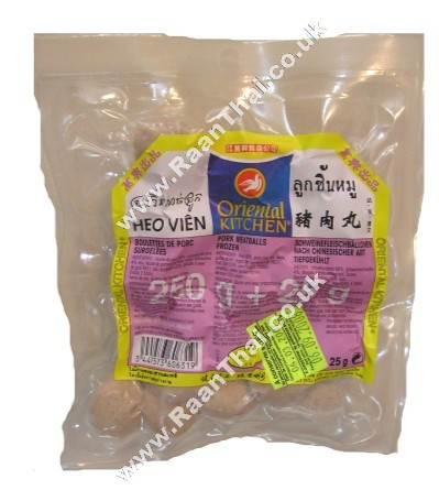 Pork Meatballs (!!!!Luk Chin Moo!!!!) 250g - ORIENTAL KITCHEN