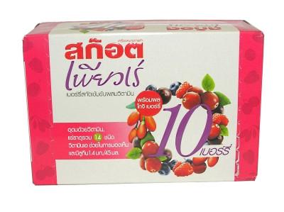 !!!!!!!!PUREE!!!!!!!! 10 Berry Essence Concentrate plus Vitamins 6x45ml - SCOTCH