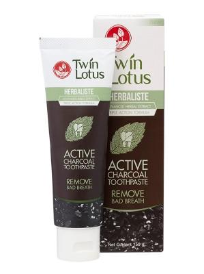 Active Charcoal Toothepaste 150g - TWIN LOTUS
