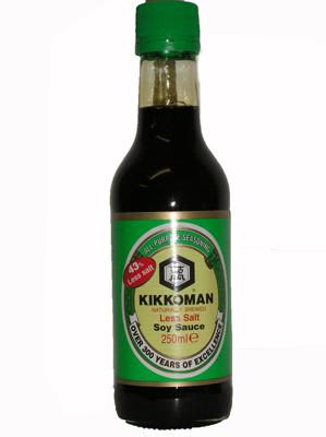 43% Less Salt Soy Sauce 250ml - KIKKOMAN