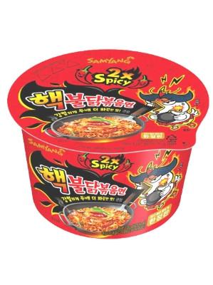 """""""2x SPICY"""" Chicken Flavour Ramen BIG BOWL - SAMYANG"""