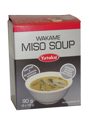 Wakame Miso Soup Concentrate 5x18g - YUTAKA