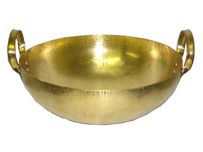 Brass Wok - 13 inch