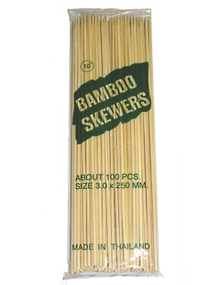 """Bamboo Skewers 10"""" - H&S"""