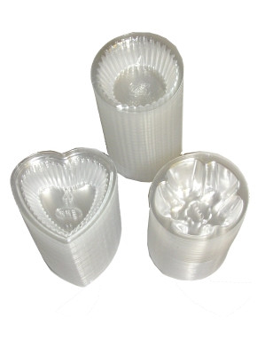 Small Plastic Agar Dessert Cups (3 shapes) x300pcs