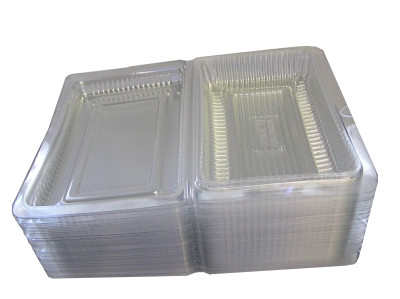 Plastic Containers for Desserts H1 (13x8x4cm) x100 (approx)