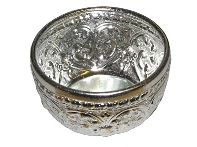 Ornate Aluminium Water Bowl (120mm diameter)