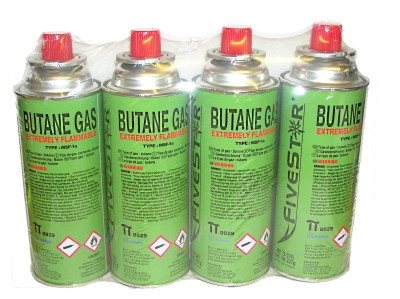 Gas Canisters for Portable Gas Stove 4x227g