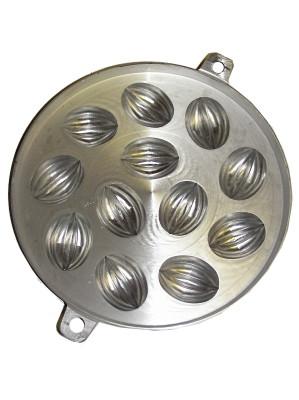 Aluminium Khanom Khai Tray (235mm diameter) - Madeleine Shape