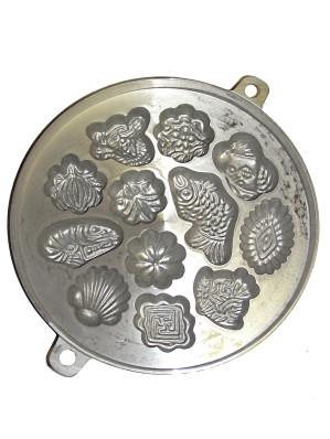 Aluminium Khanom Khai Tray (235mm diameter) - Assorted Shapes