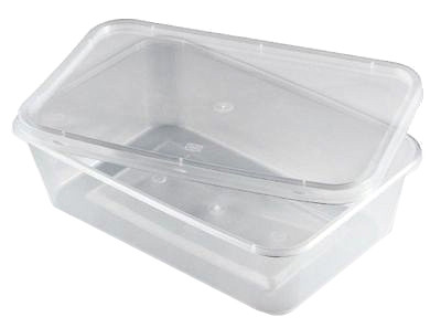 Plastic Food Containers/Lids 500ml (pack of 25)