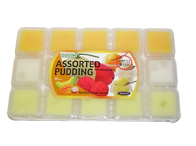 Assorted (Mango, Lychee, Melon) Puddings with Coconut Gel - COCON