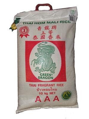 Thai Hom Mali Rice 10kg - GREEN DRAGON