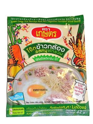 Instant Cargo Rice Porridge - Pork & Mixed Vegetable Flavour - KASET