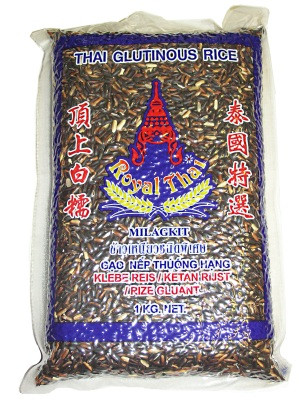 Black Glutinous Rice 1kg - ROYAL THAI