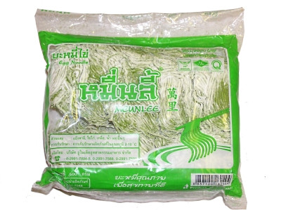 Fresh Egg Noodles - Green 500g - MUENLEE
