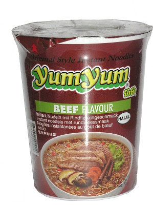 Instant Cup Noodles - Beef Flavour - YUM YUM